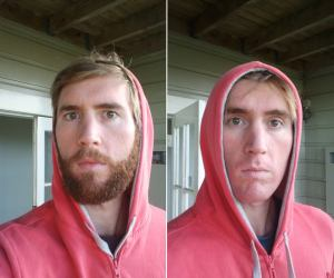 Beard before/after