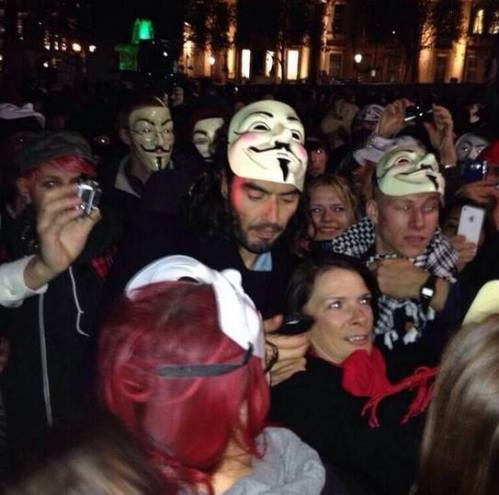 Russell Brand | V for Vendetta | Protest | Smartphone
