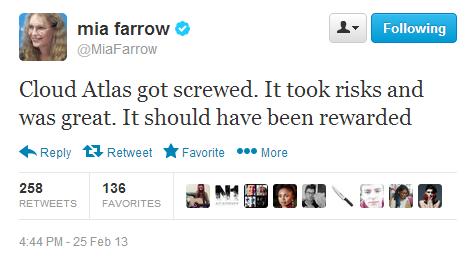 Mia Farrow | Cloud Atlas