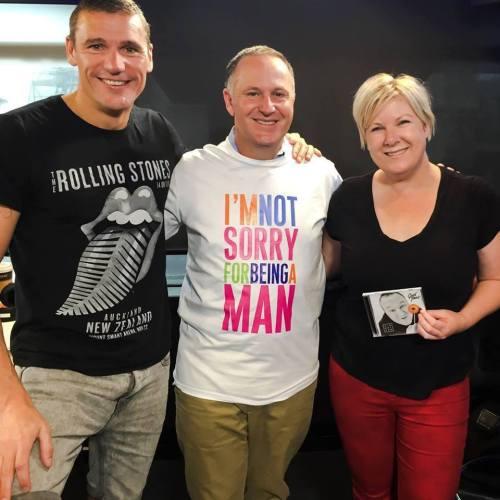 John Key not sorry for being a man t-shirt