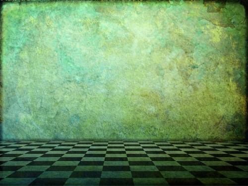 Green Room chessboard floor