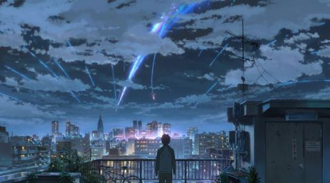 your name, kimi no na wa, anime blockbuster, meteorite scene, beautiful sky