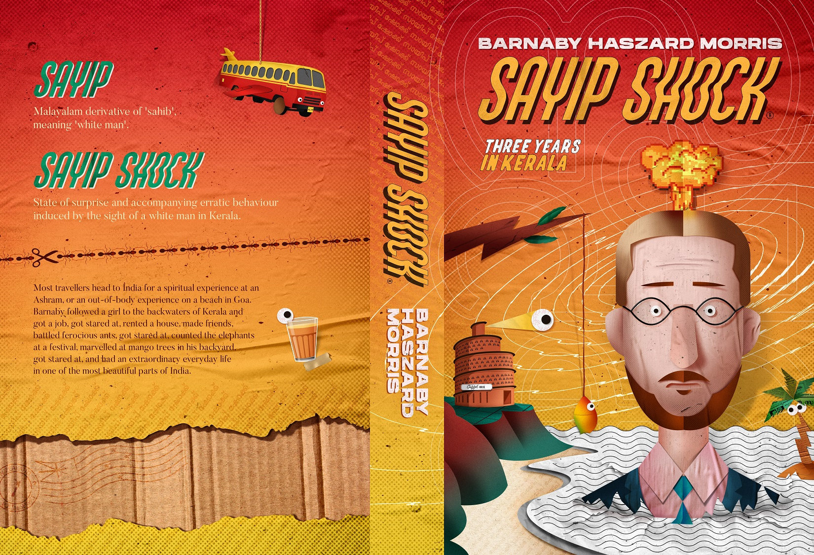 Sayip Shock book jacket front and back cover